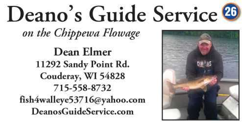 Hayward Fishing Guides Chippewa Flowage Rental